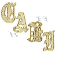 14K Bracelet Initials And 14K Name Tag Numbers