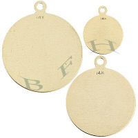 Gold-Filled Disc Charms 12167-GF