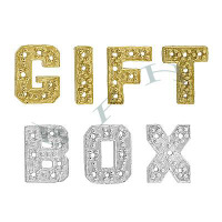14K Diamond Block Initials 12413-14K