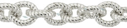 Sterling Silver Twisted Oval Cable Chain 13469-Ss