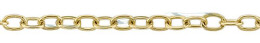 Gold-Filled Flat Round Cable Chain 1.90mm Chain Width 13489-GF
