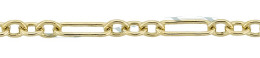 Gold-Filled Long And Short Cable Chain 3.10mm Chain Width 13500-GF