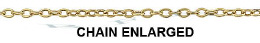 Gold-Filled Flat Round Cable Chain 1.20mm Chain Width 13512-GF