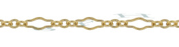 Gold-Filled Flat Long And Short Chain 3.22mm Chain Width 14795-GF