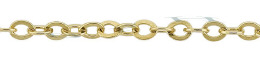 Gold-Filled Flat Round Cable Chain 3.05mm Chain Width 14796-GF