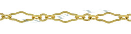 Gold-Filled Flat Long And Short Chain 3.22mm Chain Width 14798-GF