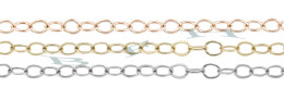 1.30mm Width 14K Flat Round Cable Chain 15769-14K