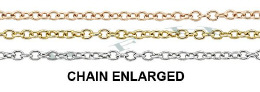 1.30mm Width 14K Round Cable Chain 15771-14K