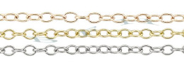 1.50mm Width 14K Round Cable Chain 15773-14K
