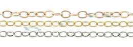 1.50mm Width 14K Flat Round Cable Chain 15775-14K