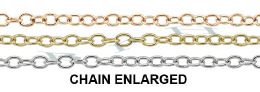 1.40mm Width 14K Round Cable Chain 15777-14K