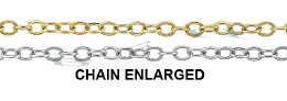 1.40mm Width 14K Flat Round Cable Chain 15779-14K