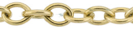 Gold-Filled Oval Cable Chain 6.90mm Chain Width 15803-GF