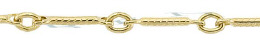Gold-Filled Hammer Bar Cable Chain 0.92mm Chain Width 15931-GF