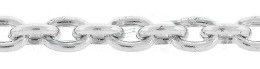 Sterling Silver Oval Cable Chain 17536-Ss