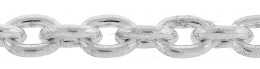 Sterling Silver Oval Cable Chain 17537-Ss