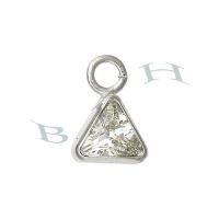 Triangle Cubic Zirconia Charm 18071-Ss