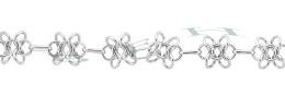 Sterling Silver 10.0mm Width Flower Chain 18136-Ss