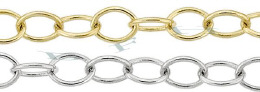 4.0mm Width 14K Oval Cable Chain 18262-14K