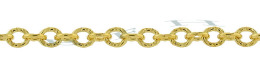 Gold-Filled Hammer Round Cable Chain 2.37mm Chain Width 18285-GF