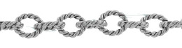 Sterling Silver Twisted Round Cable Chain 18298-Ss