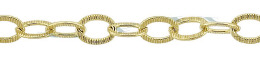 Gold-Filled Hammer Flat Oval Chain 4.40mm Chain Width 18331-GF