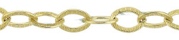 Gold-Filled Hammer Oval Cable Chain 5.55mm Chain Width 18348-GF