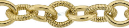 Gold-Filled Twisted And Plain Oval Chain 8.0mm Chain Width 18354-GF