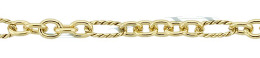 Gold-Filled Twisted Long And Plain Round Chain 3.4mm And 3.0mm Chain Width 18461-GF