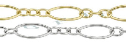 3.64mm Width 14K Oval And Round Cable Chain 18472-14K