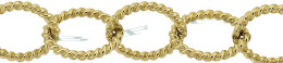 Gold-Filled Twisted Oval Cable Chain 9.60mm Chain Width 19022-GF