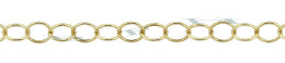 Gold-Filled Round Cable Chain 3.40mm Chain Width 21686-GF