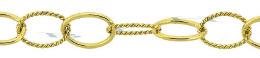 Vm 5.8mm Width Knurl&Plain Oval Chain 21695-Vm