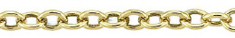Gold-Filled Oval Cable Chain 2.90mm Chain Width 21835-GF
