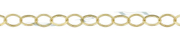 Gold-Filled Flat Round Cable Chain 3.60mm Chain Width 21844-GF