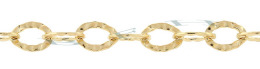 Gold-Filled Hammer Oval Cable Chain 8.0mm Chain Width 22240-GF