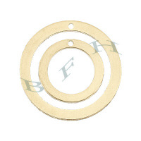 Gold-Filled Round Loop Charms 23820-GF