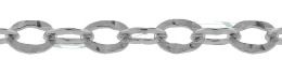 Sterling Hammer Oval Cable Chain 24068-Ss