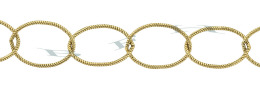 Gold-Filled Twisted Oval Cable Chain 14.0mm Chain Width 24276-GF