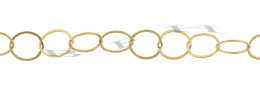 Gold-Filled Flat Round Cable Chain 10.0mm Chain Width 24279-GF