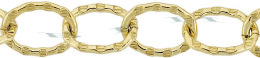 Gold-Filled Hammer Oval Cable Chain 8.55mm Chain Width 24341-GF