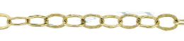 Gold-Filled Hammer Round Cable Chain 3.70mm Chain Width 24355-