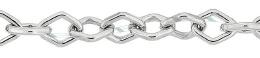 5.5mm Width Sterling Diamond Shape Chain 24689-Ss