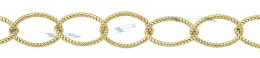 Gold-Filled Twisted Oval Cable Chain 6.0mm Chain Width 24697-GF