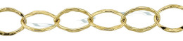 Gold-Filled Hammer Oval Cable Chain 6.0mm Chain Width 24796-GF