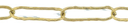 Gold-Filled Hammer Elongated Chain 5.70mm Chain Width 24804-GF