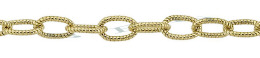Gold-Filled Hammer Oval Cable Chain 4.0mm Chain Width 24896-GF