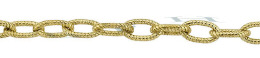 Gold-Filled Hammer Oval Cable Chain 3.0mm Chain Width 24937-GF