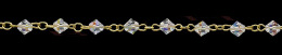 6mm 5301 Crystal Ab Swarovski Link Chain 26291-Gp
