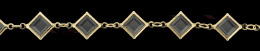8mm Square Swarovski Channel Chain 26300-Gp